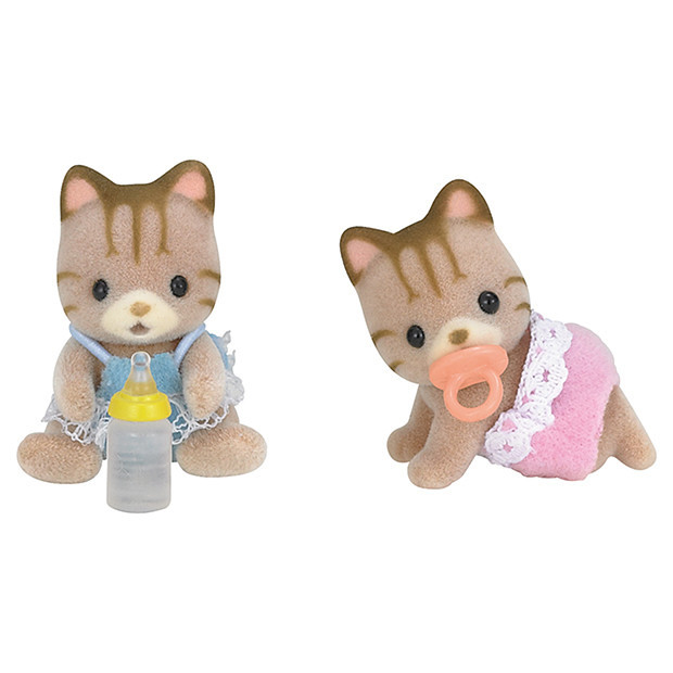 Sylvanian Families Striped Cat Twins