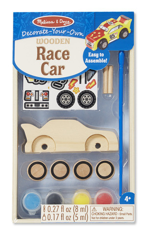 Melissa & Doug - Wooden Race Car - DYO