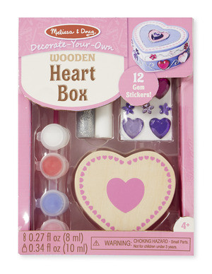 Melissa & Doug - Wooden Heart Box - DYO