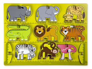 Melissa & Doug - Stacking Chunky Puzzles - Safari