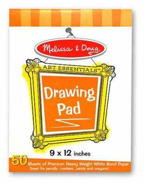 Melissa & Doug - Drawing Paper Pad 9x12inch - 50 Sheets