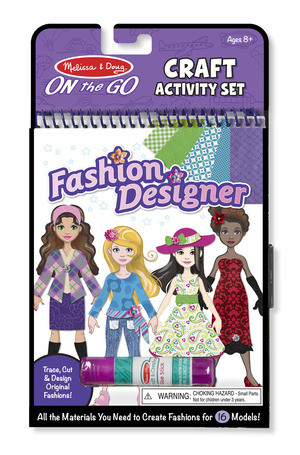 Melissa & Doug - On The Go - Craft Set - Fashion Designer