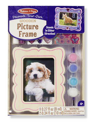 Melissa & Doug - Wooden Picture Frame - DYO