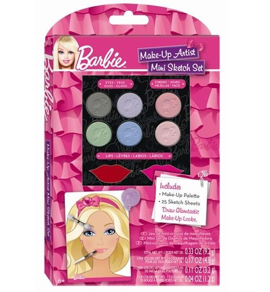 Barbie Make Up Mini Sketch Set