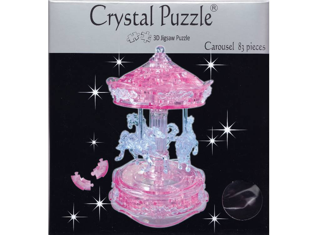 3D-Pink-Carousel-Crystal-Puzzle