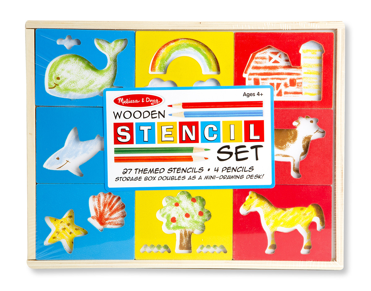 Melissa & Doug - Wooden Stencil Box
