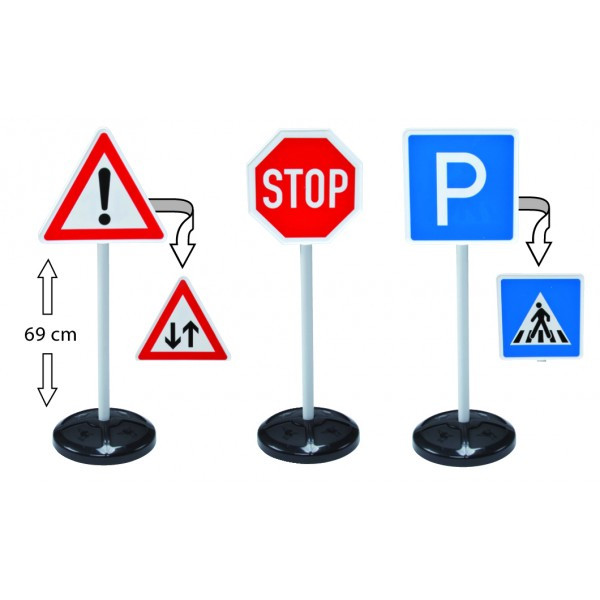 Big Traffic Signs 3pc