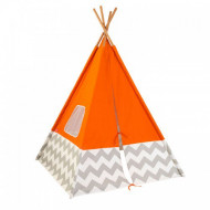 Kidkraft Play Teepee - Orange with Grey & White
