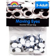 Moving Eyes Assorted 100 Per Bag