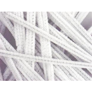 Stems 15cm x 6mm White 50 Per Bag