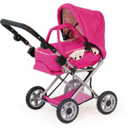 Bayer Maxi Pram - Pink w/carry Cot 68cm High