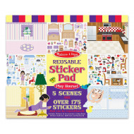 Melissa & Doug Reusable Play House Sticker Book