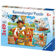 Ravensburger - Pirates Puzzle 3x49pc