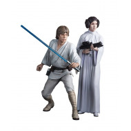 Star Wars Luke Skywalker & Princess Leia ArtFX+ Statue