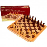 Chess Set Wood 10 5 Inlaid Bd