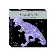 3d Clear T-Rex Crystal Puzzle