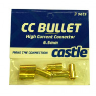 Castle Creations 6.5mm Bullet Set 3 Female and 3 Male