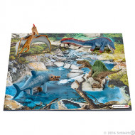 Schleich - Mini Dinosaurs + Water Hole Puzzle