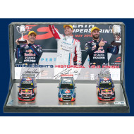 Classic Carlectables 1:43 Triple Eight Racing Historical 1-2-3 podium Finish