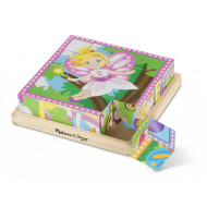 M&D - Cube Puzzle - Princess & Fairies - 16pc