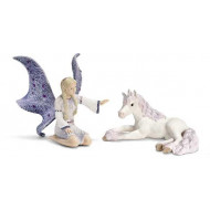 Schleich - Lindariel with Unicorn Foal
