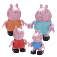 Peppa Pig Construction Family Fig 4 Pack