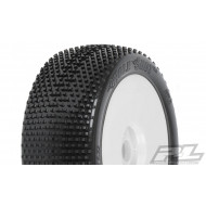 Proline Holeshot X3 (Soft) 1/8 Buggy Tyres Mounted on Lightweight Velocity White Wheels