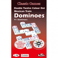 Shuffle Coloured Dominoes Double 12 With Mexican Train