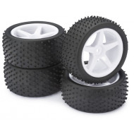 Absima 1/10 Wheel Set Buggy 5-Spokes / Dirt white (4 pcs)