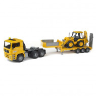 BR1:16 MAN TGA Low Loader Truck w/JCB 4CX B