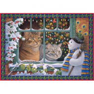Holdson Cat Charms Megatab & Snowman 1000pc Jigsaw Puzzle