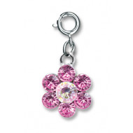 Charm It Pink Daisy Charm