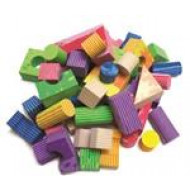 Jolly Kidz- Play Blocks Assorted Foam Shapes 50pcs
