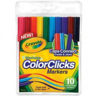 Crayola 10 Colour Clicks Washable Markers