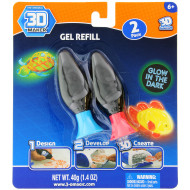 3D Magic Glow in the Dark 2pk Gel Refill