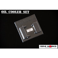 Demi Works Polycarbonate Universal Oil Cooler Turbo Intercooler Set For 1/10 Drift Clear Body #DWUOC