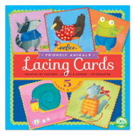 Eeboo Lacing Cards Friendly Animals