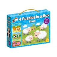 Galt - 4 Puzzles in a Box - Farm