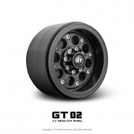 Gmade GT02 Black Beadlocks Offroad Crawler Wheel 2pcs For 2.2 inch Tires #GM70234