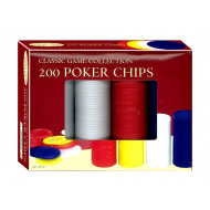 Poker Chips 200pc Plastic