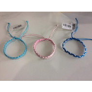 Pink & Blue Woven Craft Bracelet 12 Ass
