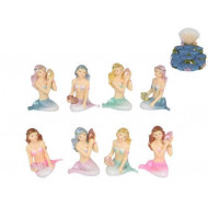 6cm Mermaids On Display Stand 12 Asstd