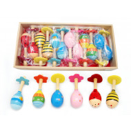 Kaper Kidz Mini Wooden Maraca Assorted