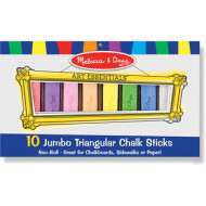 M&D - 10 Triangular Jumbo Chalk Sticks