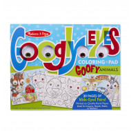 M&D - Googly Eyes Coloring Pad - Goofy Animals