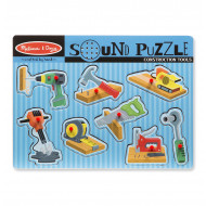 Melissa & Doug - Construction Tools Sound Puzzle - 8pc