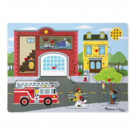 Melissa & Doug - Fire Station Sound Puzzle - 8pc