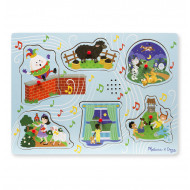 Melissa & Doug - Nursery Rhyme 2 Sound Puzzle - 6pc