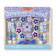 Melissa & Doug - Wooden Sparkling Flowers Bead Set