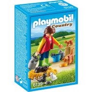 Playmobil - Woman with Cat Family